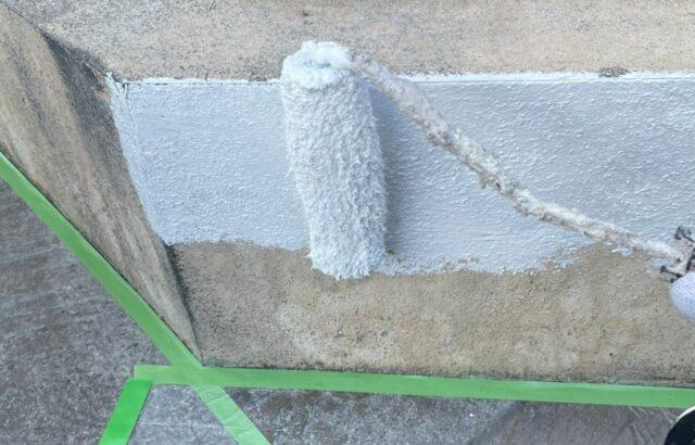 塀の塗装の画像