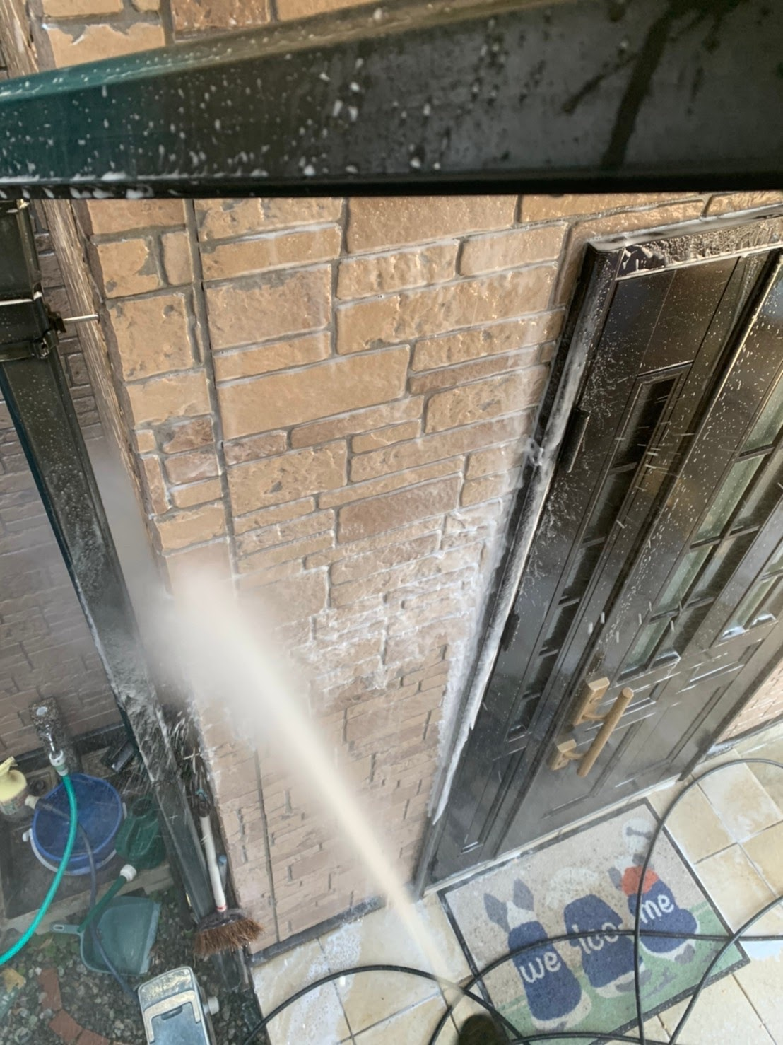 外壁の高圧洗浄の画像